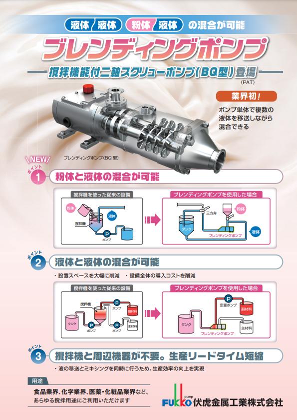 ブレンディングポンプ 撹拌機能付き二軸スクリューポンプ BQ型