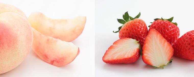 いちご 桃